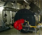 Gas fired thermal oil boiler